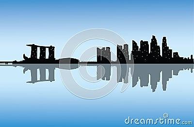 Vector modern city skyline