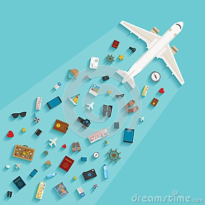 Vector Modern Flat Style Concept For Tourism Industry. Stock ...