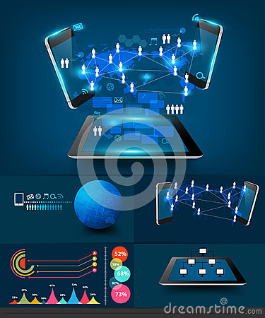 Free Vector Modern Infographics Business Technology Com Stock Photography - 32452702