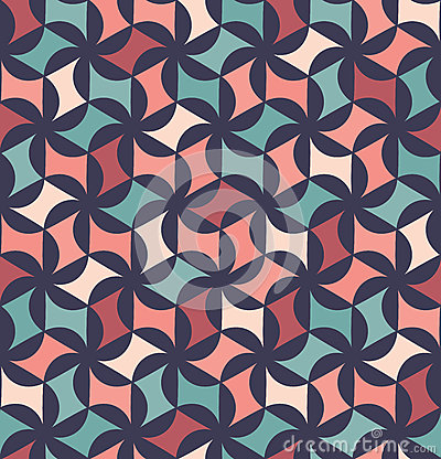 Free Vector Modern Seamless Colorful Geometry Floral Pattern, Color Abstract Royalty Free Stock Image - 70931696