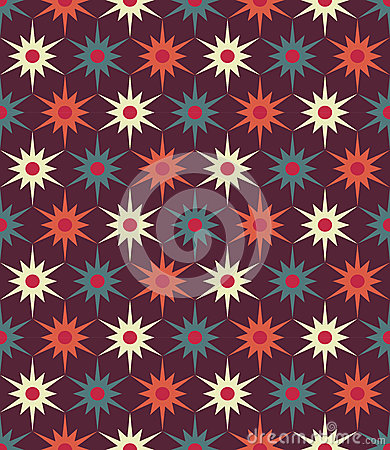 Free Vector Modern Seamless Colorful Geometry Floral Pattern, Color Abstract Geometric Background Royalty Free Stock Photography - 73889857