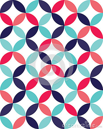 Free Vector Modern Seamless Colorful Geometry Overlapping Circles Pattern, Color Abstract Stock Image - 64317321