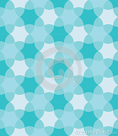 Free Vector Modern Seamless Colorful Geometry Pattern, Flowers, Color Blue Abstract Royalty Free Stock Images - 61020869