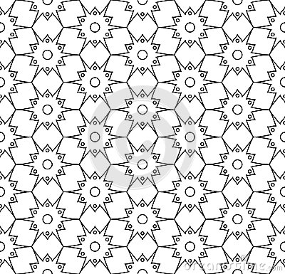 Free Vector Modern Seamless Geometry Pattern, Black And White Abstract Royalty Free Stock Images - 70892579