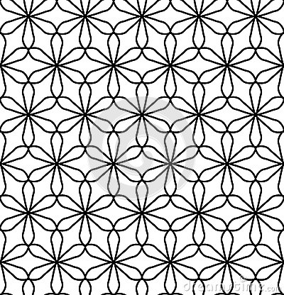 Free Vector Modern Seamless Geometry Pattern Flower Of Life, Black And White Abstract Stock Photo - 68418460