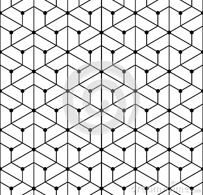 Free Vector Modern Seamless  Geometry Pattern Grid, Black And White Abstract Royalty Free Stock Photos - 62734428