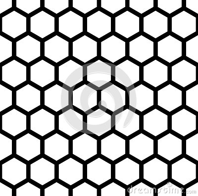 Free Vector Modern Seamless Geometry Pattern Hexagon, Black And White Honeycomb Abstract Stock Image - 68697501