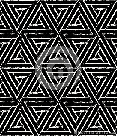 Free Vector Modern Seamless Geometry Pattern Hexagon Grunge, Black And White Abstract Stock Photo - 68093380