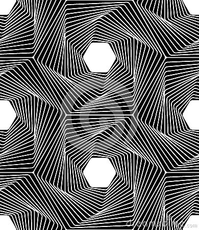 Free Vector Modern Seamless Geometry Pattern Line Art, Black And White Abstract Stock Photo - 65763190