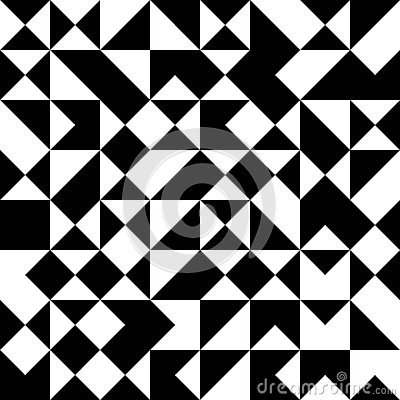 Free Vector Modern Seamless Geometry Pattern Random Triangle, Black And White Abstract Royalty Free Stock Photography - 61474497