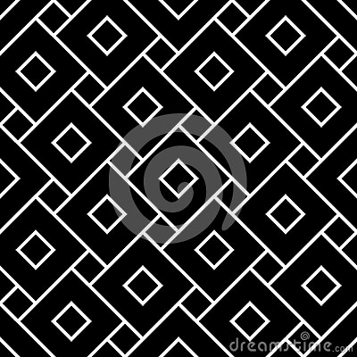 Free Vector Modern Seamless Geometry Pattern Squares, Black And White Abstract Stock Image - 63523451