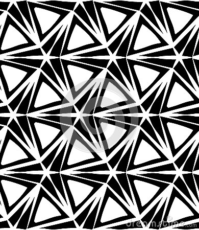 Free Vector Modern Seamless Geometry Pattern Three Point Star, Black And White Abstract Stock Photo - 67849390