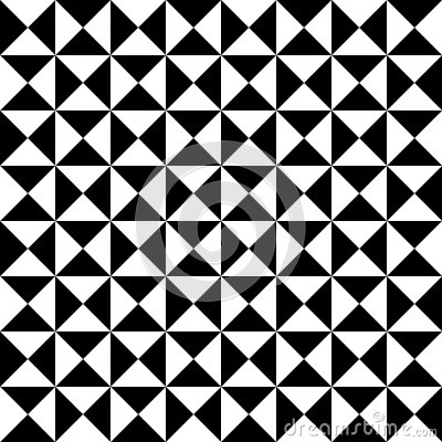 Free Vector Modern Seamless Geometry Pattern Tiles, Black And White Abstract Royalty Free Stock Image - 61474386