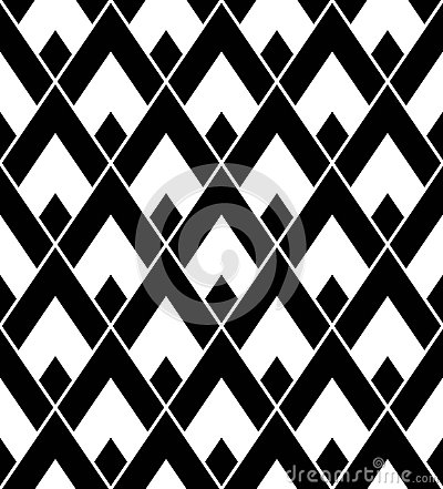 Free Vector Modern Seamless Geometry Pattern Triangle, Black And White Abstract Stock Photos - 66628303