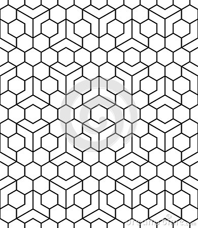 Free Vector Modern Seamless Sacred Geometry Pattern, Black And White Abstract Royalty Free Stock Photos - 64004388