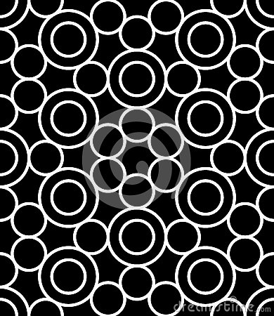 Free Vector Modern Seamless Sacred Geometry Pattern Circles, Black And White Abstract Royalty Free Stock Photos - 63970108