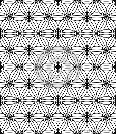 Free Vector Modern Seamless Sacred Geometry Pattern Flower Of Life, Black And White Abstract Royalty Free Stock Photos - 68532358