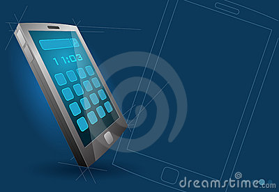 Vector modern touch screen device