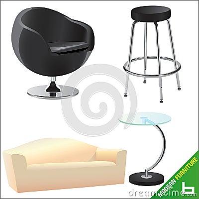 Vector moderno 6 de los muebles
