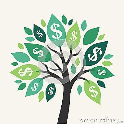 Free Vector Money Tree Royalty Free Stock Image - 45587346
