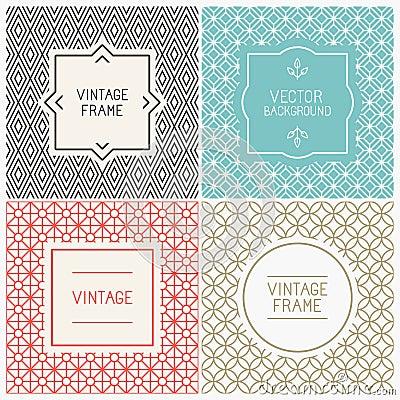 Free Vector Mono Line Graphic Design Templates Stock Images - 45355734