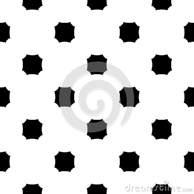Free Vector Monochrome Seamless Texture, Octagons Pattern Royalty Free Stock Photos - 88300128