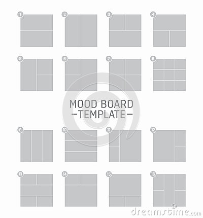 Vector mood board template stock vector image 62421966 for Fashion mood board template