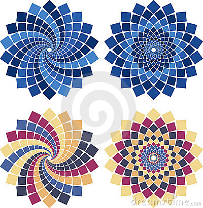 Vector Mosaic Flower Stock Images - Image: 18077524
