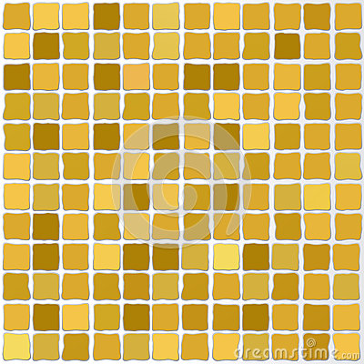 Vector mosaic tiles gold color