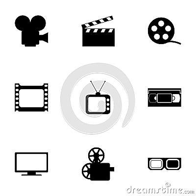 Free Vector Movie Icon Set Stock Photography - 52797732