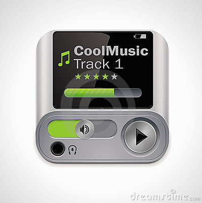 Vector mp3 player XXL icon