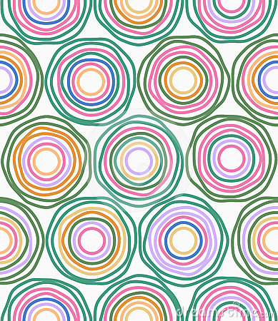 Free Vector Multicolor Circles Seamless Pattern Royalty Free Stock Photos - 24426008