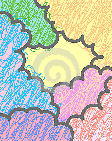 Vector multicolor clouds background