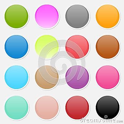 Vector multicolored paper stickers
