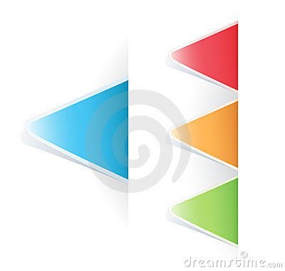 Vector multicolored Tag triangular Label