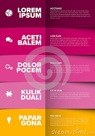 Free Vector Multipurpose Infographic Template Stock Images - 139270374