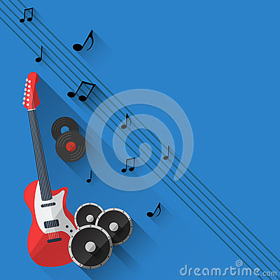 Free Vector Music Background In Flat Style Design Stock Photography - 45275302
