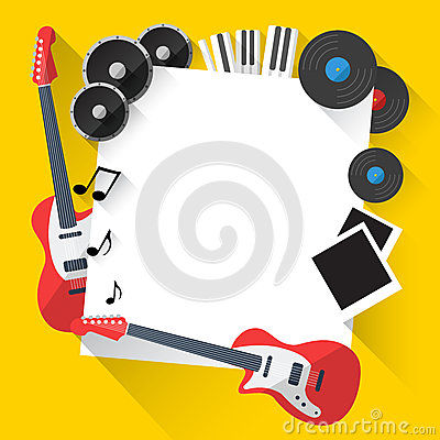 Free Vector Music Background In Flat Style Design Stock Image - 45275601