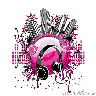 Free Vector Music City Illustration Royalty Free Stock Photo - 6758725