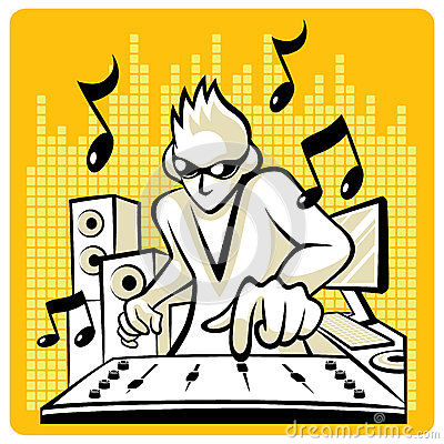 Free Vector Music DJ Stock Images - 33459364