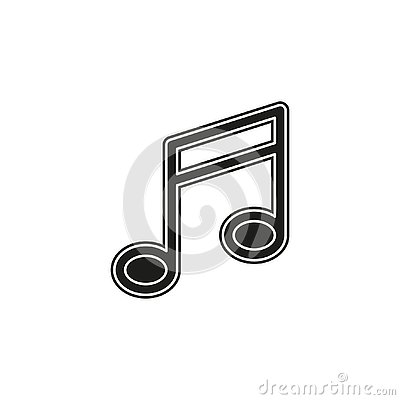 vector music note sign - musical symbol sign, sound icon Stock Photo