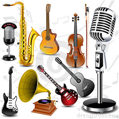 Free Vector Musical Instruments Stock Images - 16595114