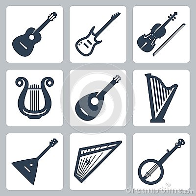 Free Vector Musical Instruments: Strings Stock Images - 35997464