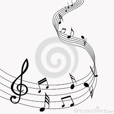Vector musical notes. Music. Gray background. Vector illustration. EPS 10 Stock Photo