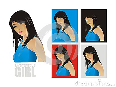 Vector mysterious girl