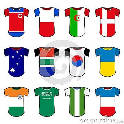 Vector national soccer uniforms