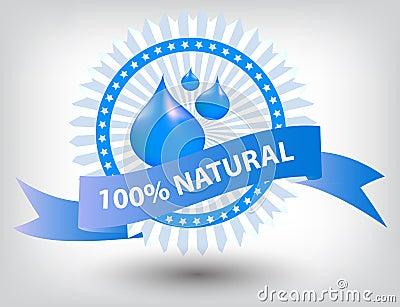 Vector natural blue label illustration