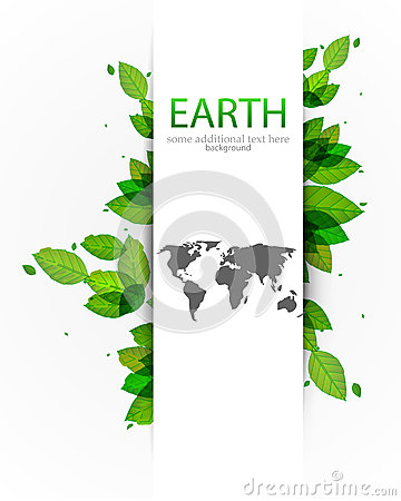 Vector nature earth map outline background