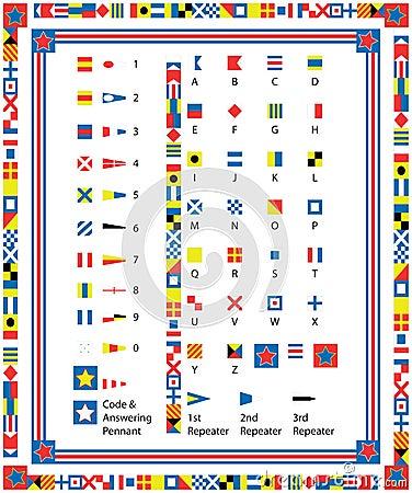 Vector Nautical Flag Border Royalty Free Stock Image - Image: 24223076