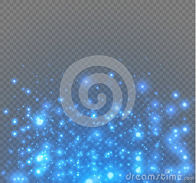 Free Vector Neon Glitter Particles Background Effect For Luxury Greeting Rich Card. Sparkling Blue Texture. Stock Photo - 89961230
